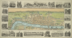 London and Westminster in the reign of Queen Elizabeth, anno dom. 1563